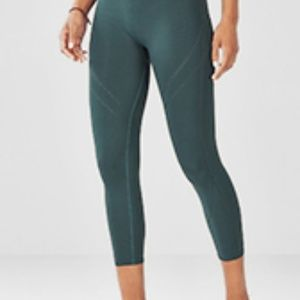 Turquoise Fabletics Seamless High Waisted Leggins